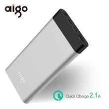 Aigo Мощность Bank 20000 мАч ЖК-дисплей Дисплей Мощность Bank Ultra Slim Портативный внешний Батарея быстро Зарядное устройство для Xiaomi для Iphone 6 6S 7 8