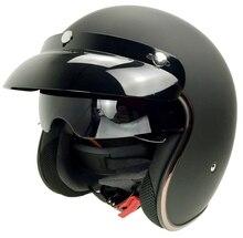 Vintage per halley casco bicicletta elettrica cinghia del casco del motociclo enteroscopic bolla maschera specchio occhiali 510 nave veloce