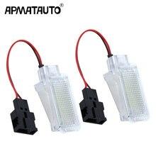 2 шт. светодиодный Лампа для салона автомобиля сиденье светильник ног светильник для Audi A2 A3 S3 A4 B5 B6 B7 B8 RS4 A5 S5 A6 S6 C5 C6 A7 A8 Q5 Q7 TT TTS