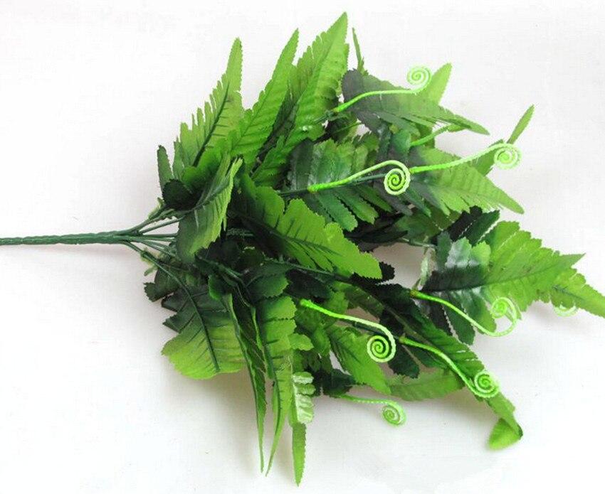 Persia leaf bunch green plants fake fern greenery twelve