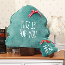 Wholesale Christmas tree pillows large Christmas gifts soft throw pillow