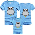 Kindsraum 2017 Family Look Cartoon T-shirts Summer Family Matching Clothes 11 Colors Dad & Mom & Son & Daughter Outfits,RC432