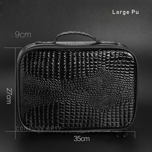 Image 5 - Professional Barber Hair Tool Bags Salon Hairdressing Scissor bag Clipper Comb Storage Case Can Hold Hair Dryer Training Head