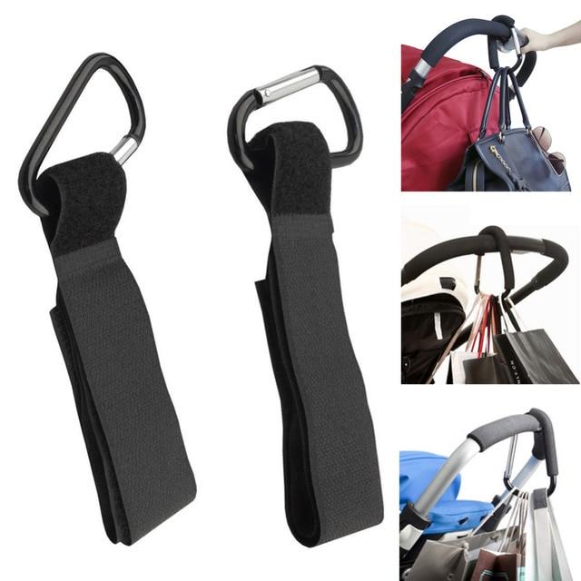 4pcs/Set Stroller Hook Baby Carriage Bag Hanger Wheelchair Pram Bag Clip Newborn Infants Trolley Carabiner Stroller Accessories