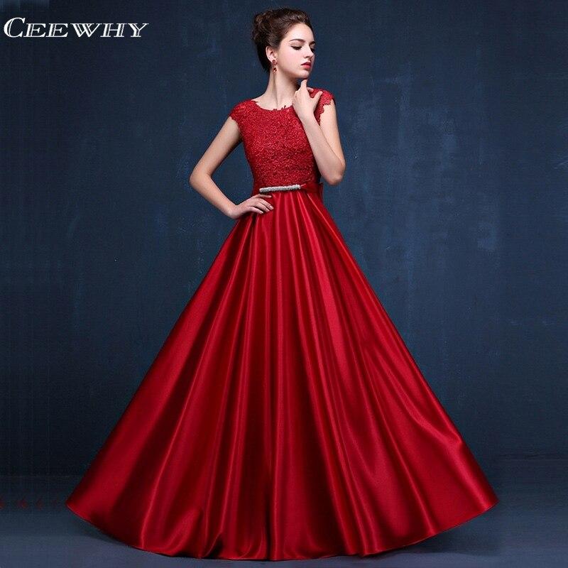 CEEWHY Robe de soirée appliques bordeaux longue Robe formelle femmes élégante Robe de soirée grande taille Robe de soirée Vestido Longo Abiye