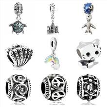 dbaf9cea7 Btuamb Vintage Clock Rainbow Hello Kitty Cartoon Alloy Beads Fit Charm  Pandora Bracelets & Bangles Necklaces