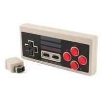 Para NES Para Nintendo Controlador Sem Fio de 2.4 GHz Sem Fio Do Jogo Do Controlador de Joystick Gamepad Com Receptor Para NES Clássico Edição