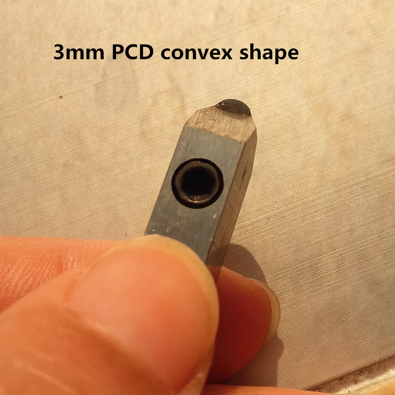 Spedizione gratuita Talentool CNC macchina uso strumenti PCD Posalux utensili diamantati strumenti gioielli convessi 3mm 1 pz / set