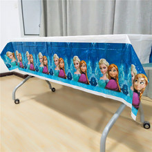 1pcs/set Disposable Tablecloths Kids Frozen Elsa And Anna Birthday party decoration event supplies table cover Size 1.08x1.8M