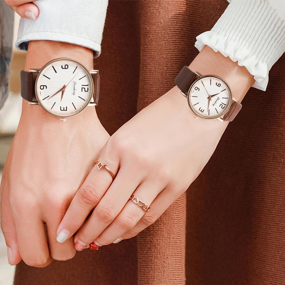 Casual Couple Watches Fashion High Quality Wristwatch Arabic Numerals Rose Gold Watch Bracelet Zegarek Damski Dropshipping Clock