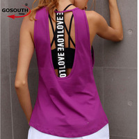Women S Yoga Tank Top Sleeveless Running Gym Fitness Shirts Sexy Sports Vest Workout T Shirts