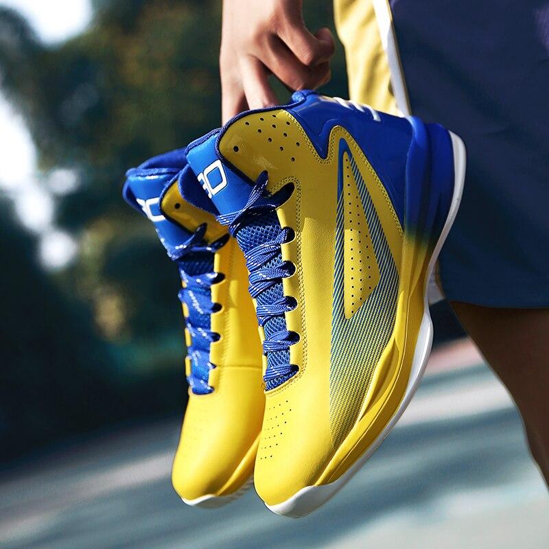 cae9a5370 2018 نجم في الهواء الطلق داخلي حذاء كرة السلة للرجال الأولاد رياضية مريحة  عالية أحذية رياضية المضادة للانزلاق حذاء من الجلد خفيفة الوزن