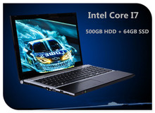 15.6inch Core I7 laptop computer 8GB RAM 500GB HDD & 64GB SSD W/DVD ROM WIFI camera Windows  notebook PC