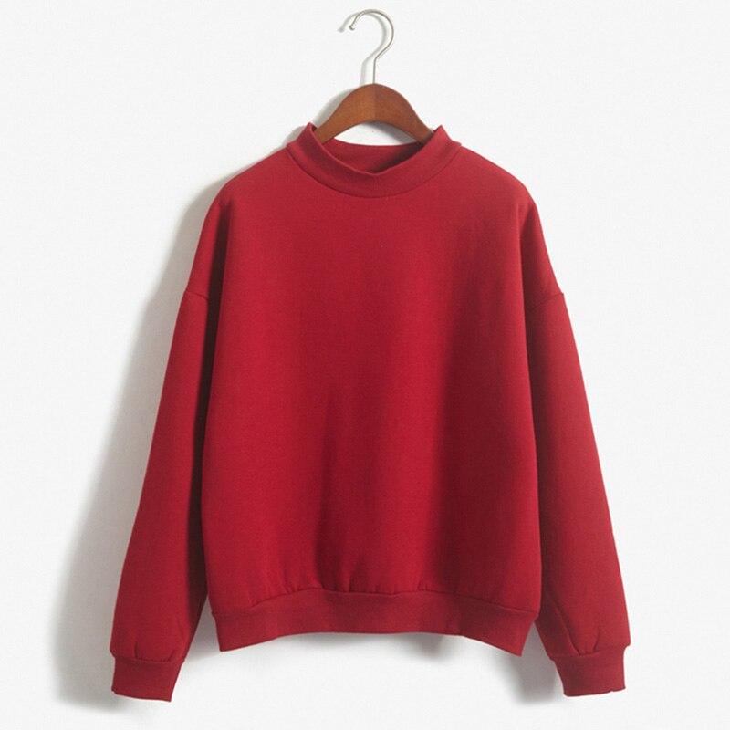 Women Pullover Casual Hoodies Sweatshirt Candy Color Coat Spring Autumn Long Sleeve Hip Hop Hoodies StreetWear Harajuku cloth T7