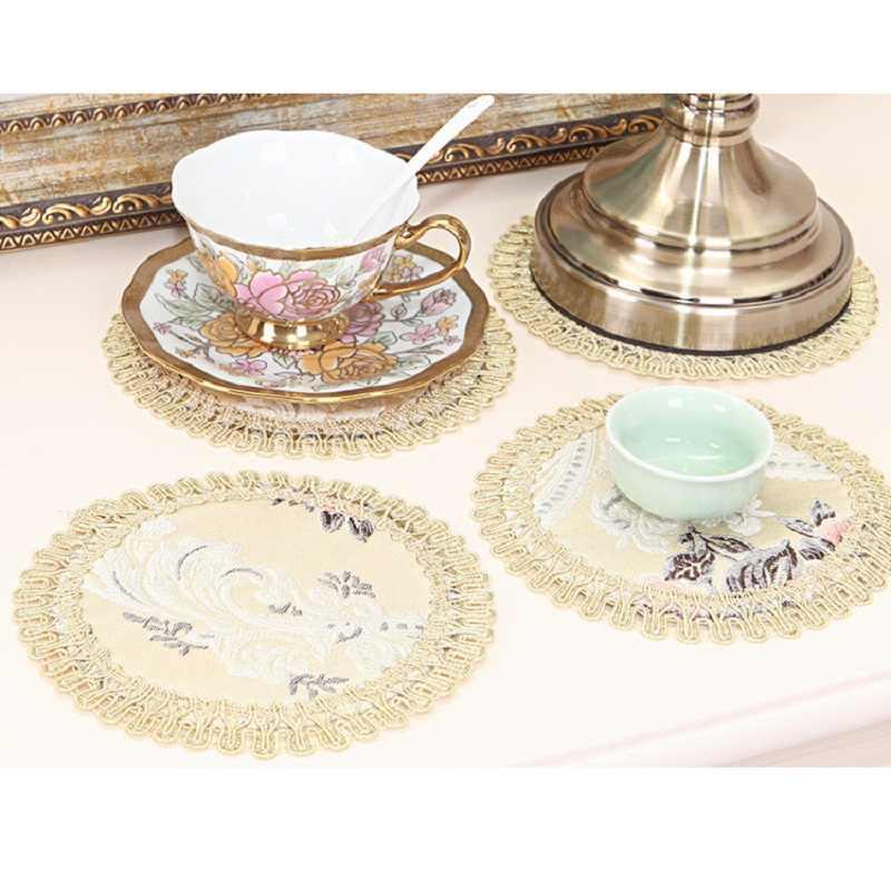 Европейский коврик с Вышивкой Модные individuales de mesa обеденный Таблица стола салфетки для украшения стола аксессуары