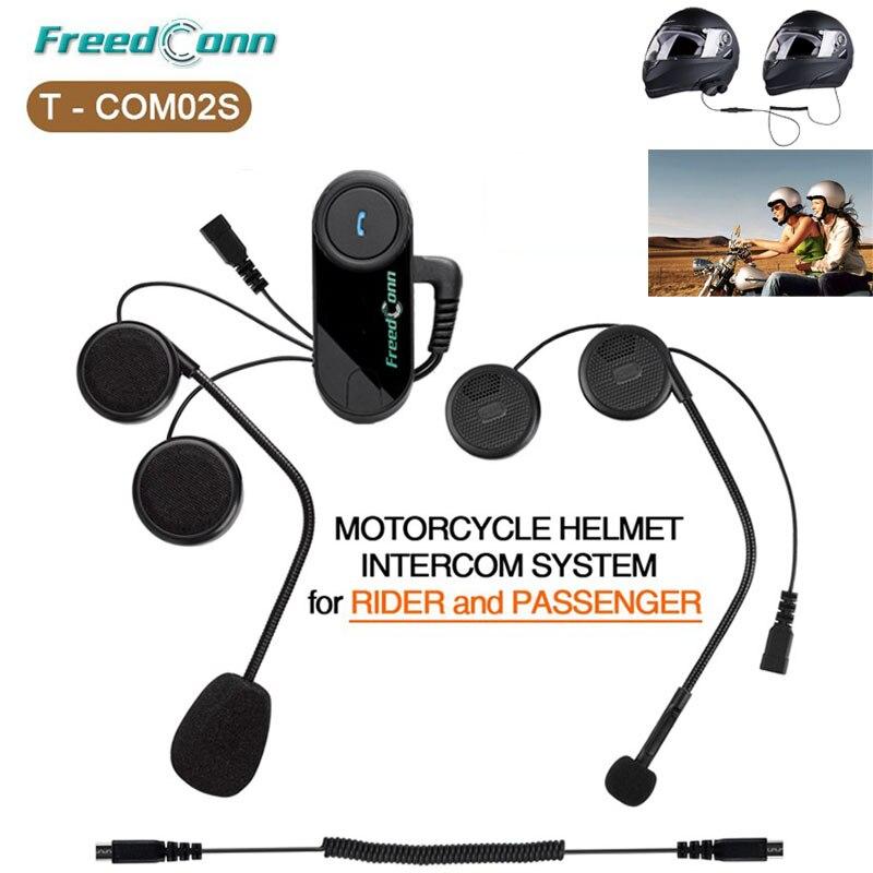 T COM02S Motorcycle Helmet Interphone Bluetooth Helmet Headset for Rider and Passenger Pillion Intercom BT Intercomunicador