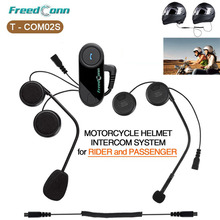 T-COM02S Motorcycle Helmet Interphone Bluetooth Helmet Headset for Rider and Passenger Pillion Intercom BT Intercomunicador