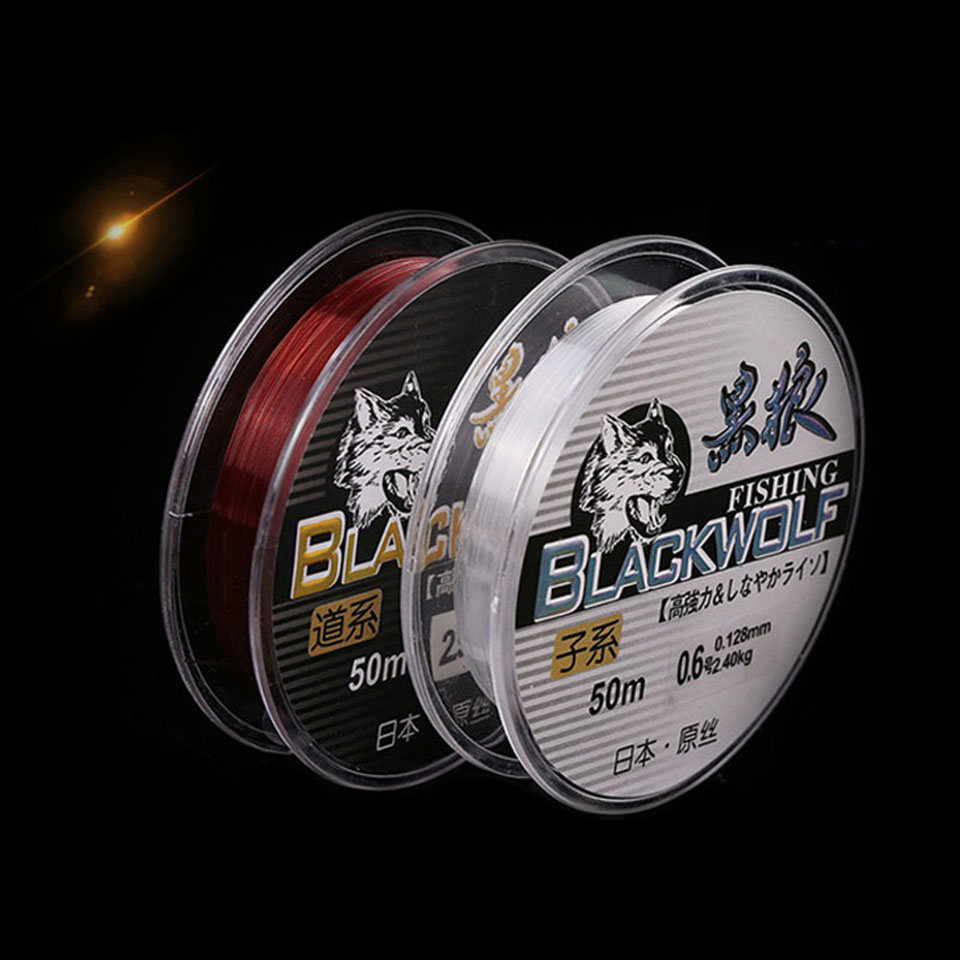 50m Fishing Line Strong Japan Nylon Fishing Lines Sink Line High Quality Fishing Tackle