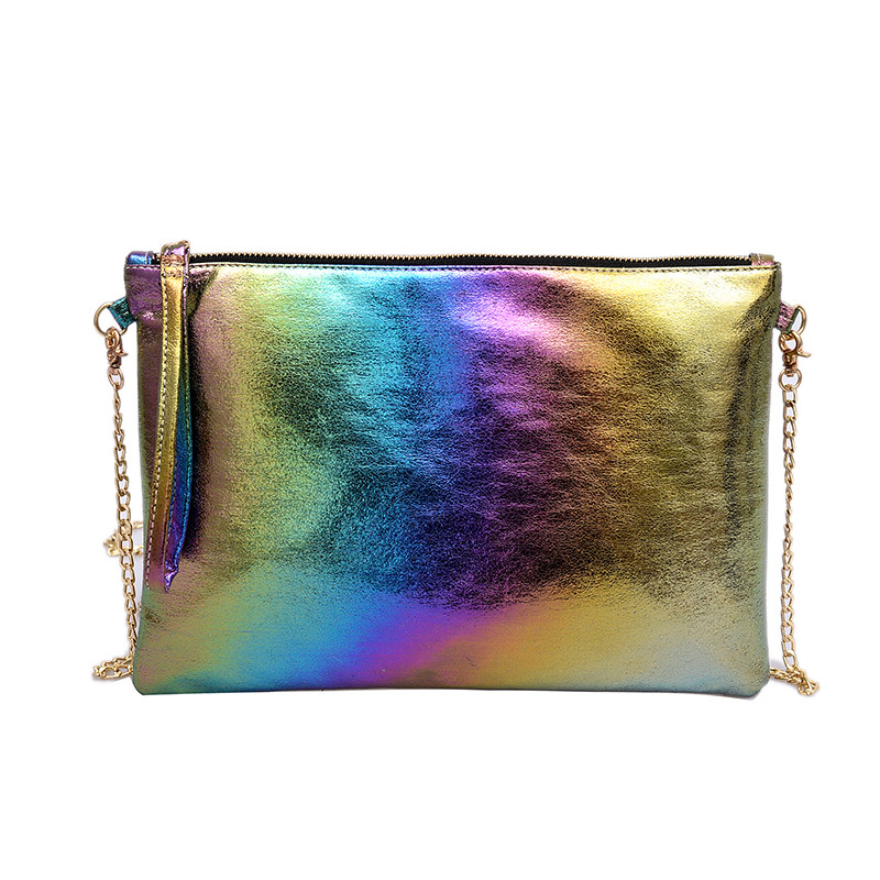 Fashion Shining Women Envelope Clutch bag PU leather Womens Clutches Chain messenger bag for female Crossbody Bags Color walletFashion Shining Women Envelope Clutch bag PU leather Womens Clutches Chain messenger bag for female Crossbody Bags Color wallet