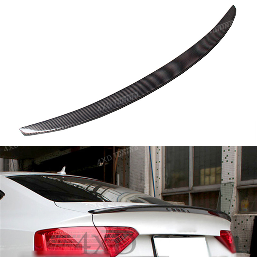 For Audi A5 Carbon Spoiler S5 Style Carbon Fiber Rear Spoiler Rear Bumper Trunk Wing A5 spoiler Sedan 4-Doors Car styling 2013+ for audi a5 carbon rear spoiler s5 style carbon fiber rear spoiler rear trunk wing coupe 2 doors car 2013 2014 2015 2016 2017 on