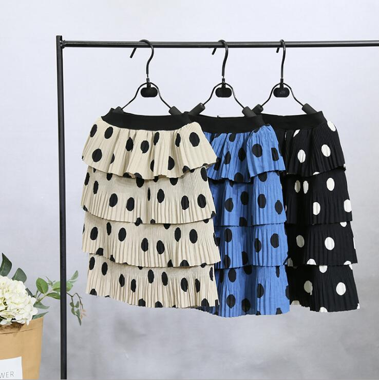 2019 new wholesale girls dots ruffles skirt spring fashion girls skirt 2-7t A871