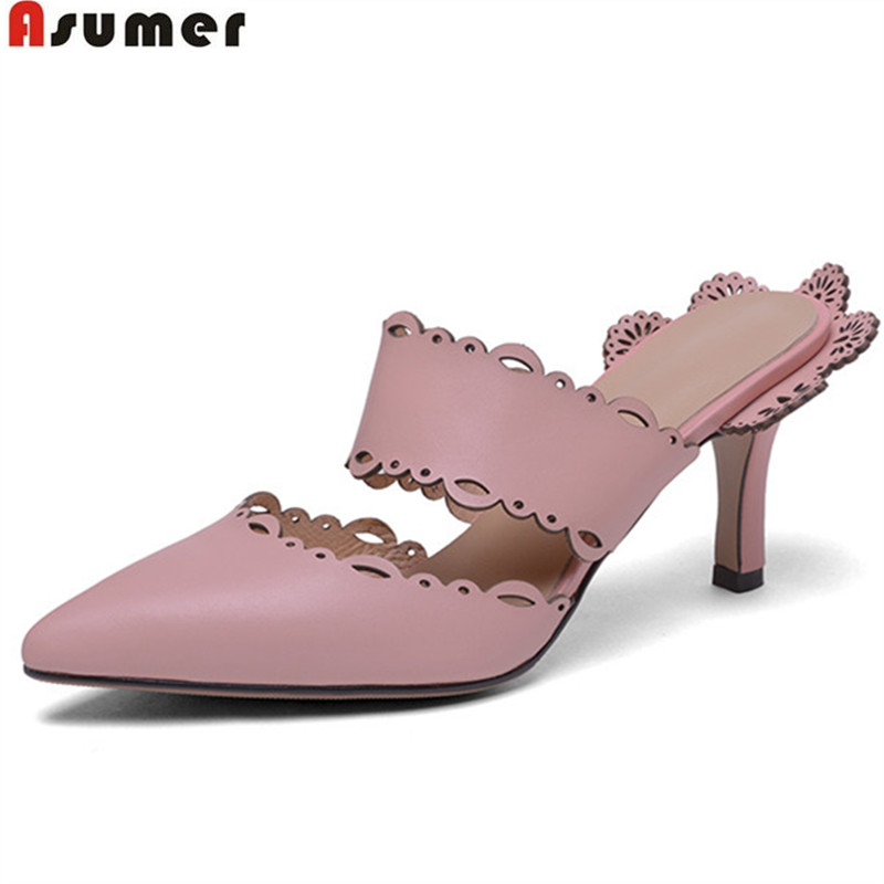 ASUMER pink white fashion summer new arrival shoes woman pointed toe elegant pumps women shoes sweet high heels shoes urbanika бокал для воды mikado 4 шт