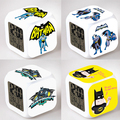 Hot Sale Batman Despertador Praça LED Colorido Dos Desenhos Animados do Anime Brinquedos de Presente Pequena Luz Noturna Eletrônico do Cinema Americano # EA