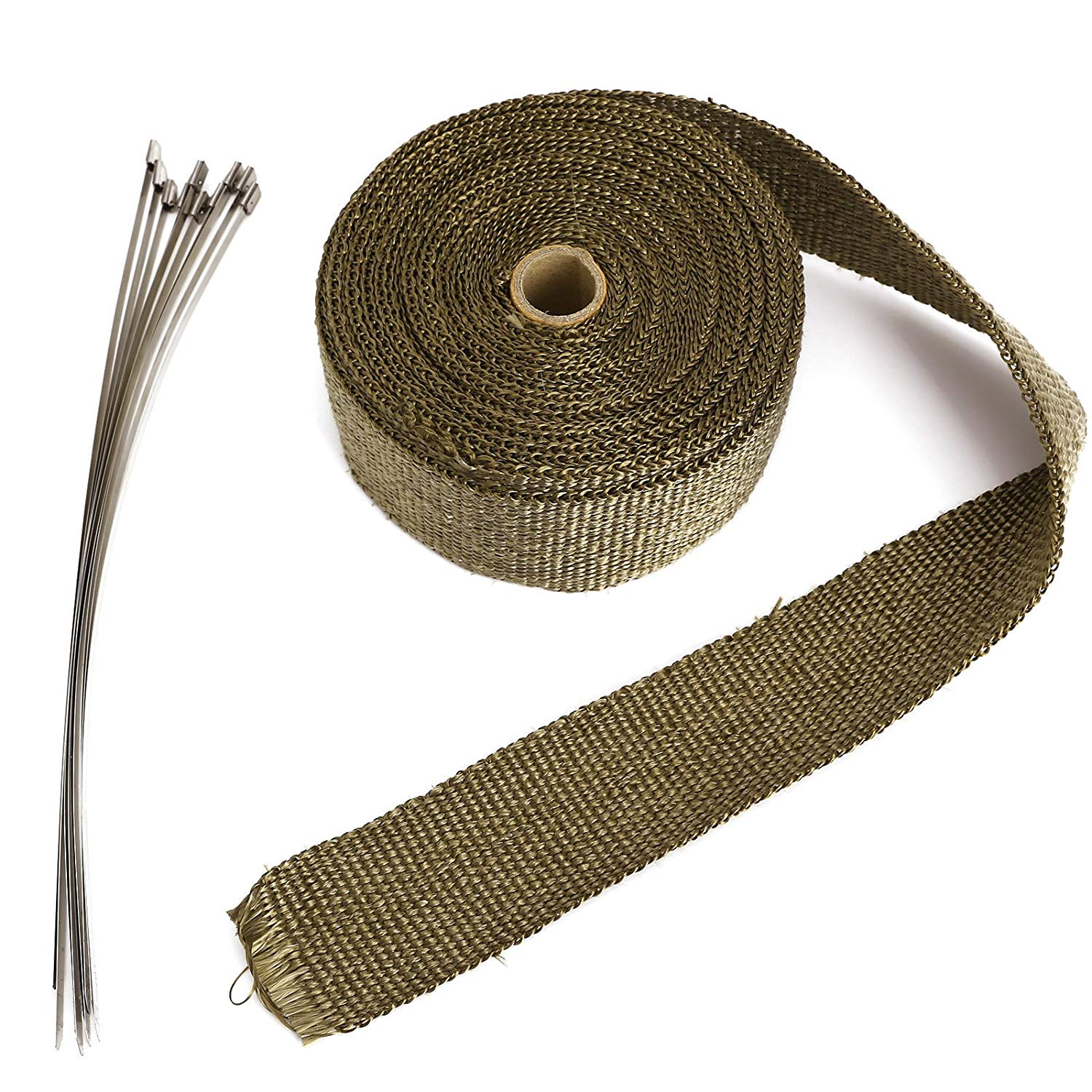 Hot Sale Exhaust Tube Thermal Insulation Collector Tape Motorcycle Fiberglass Tape Fireproof High Temperature Tape