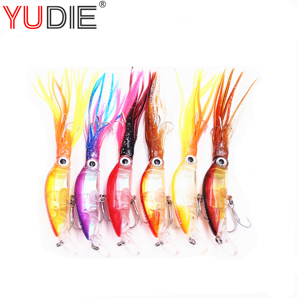 1PCS Octopus Crank Swings Squid Bait 17cm 18.5g For Artificial 6 Color Hard Bait Tuna Sea Fishing Wobblers Spinner Tools Allure 50pcs 12cm soft silicone fishing lures mixed color plastic octopus squid skirt lure saltwater octopus bait for sea carp fishing
