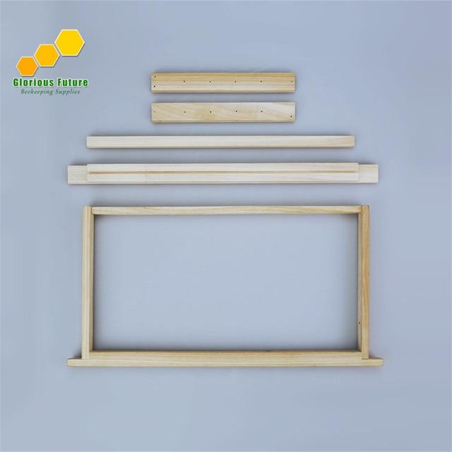 2 PCS Unassembled langstroth beehive frames deep box frames ,honey ...