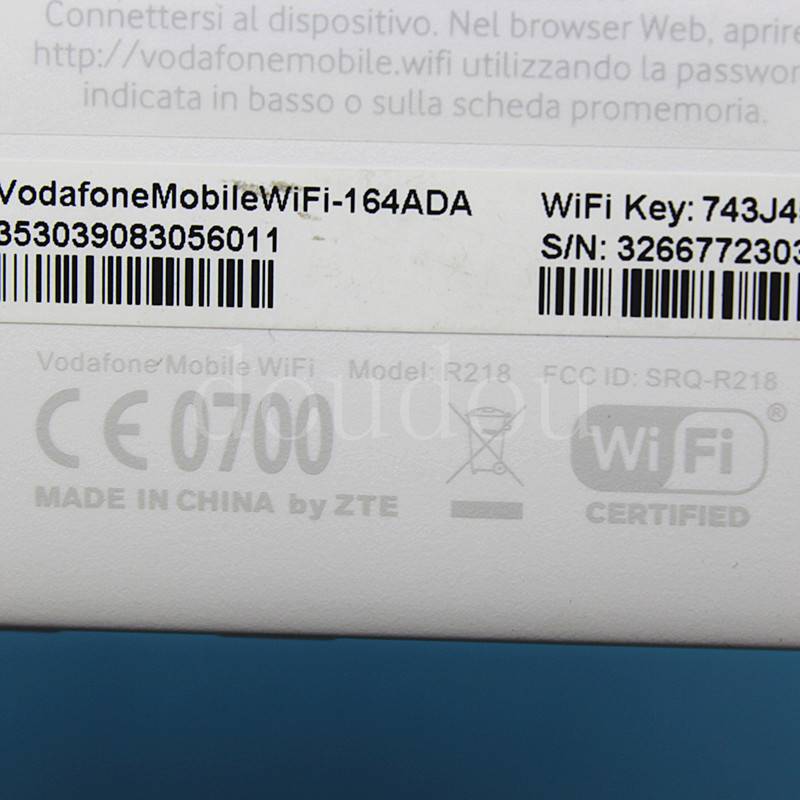 US $20 99 |Unlocked Used vodafone R218 4G LTE 150Mbps Mobile WIFI Router  with sim card slot 4G Wireless Router PK huawei E5573, R216,E5577-in 3G/4G