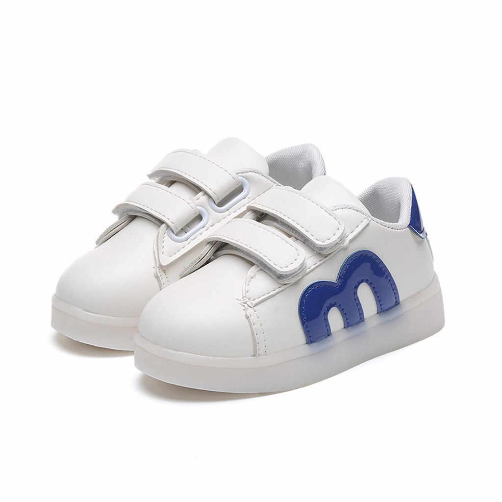 Tập Đi Cho Trẻ Sơ Sinh Trẻ Em Giày Bé Gái Lưới LED Dạ Quang Giày Thể Thao Sneakers Kadin Ayakkabi