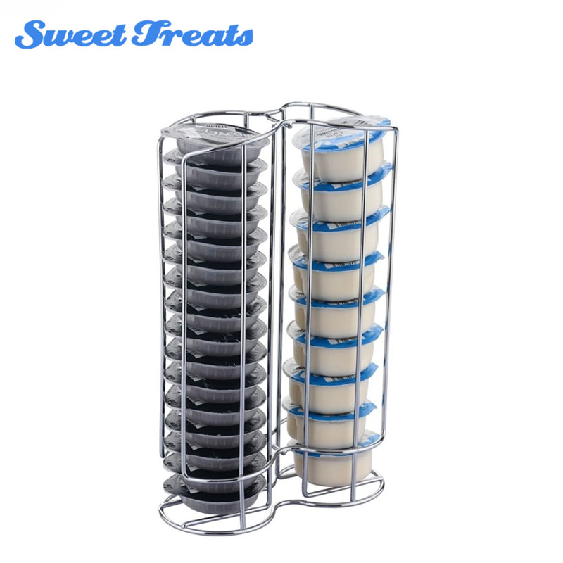 Sweettreats 32 Pod Chrome Tassimo Coffee Capsule Holder Stand Top Home Solutions 32 Capsule Coffee Pod