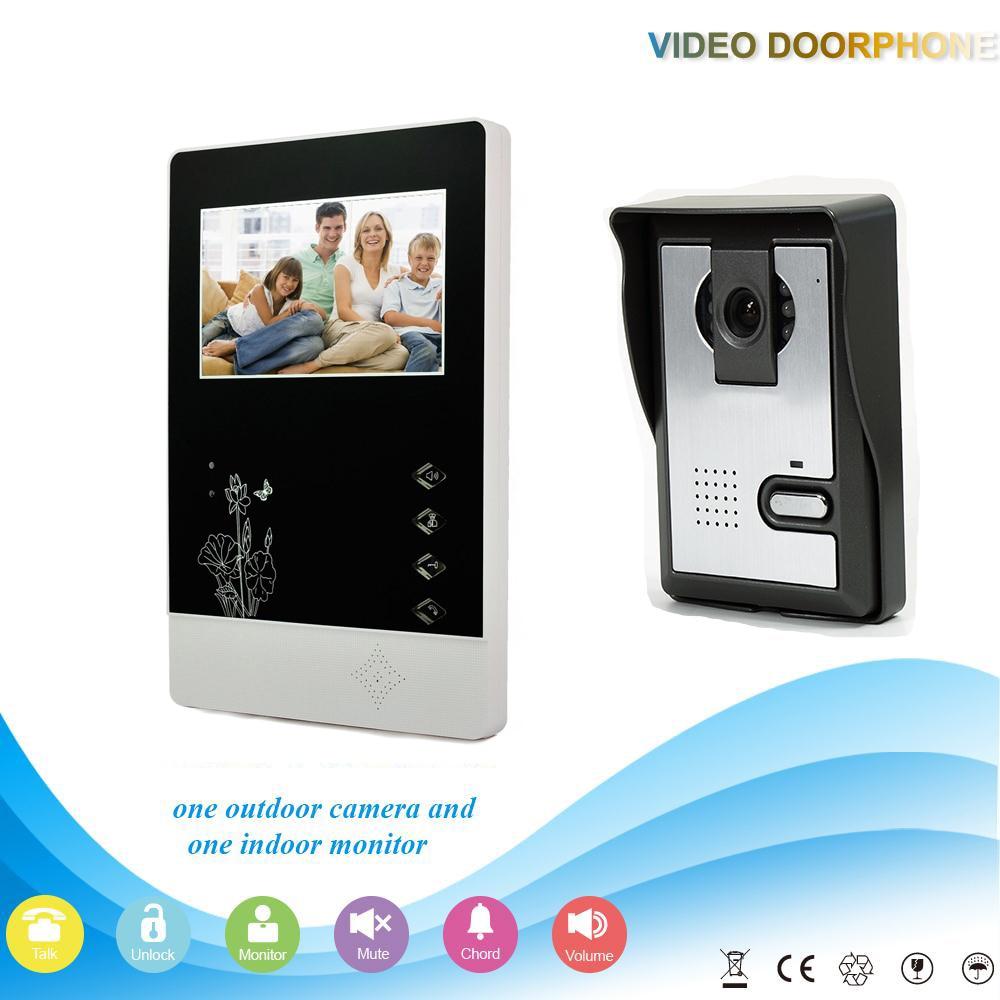 ФОТО Chuangsafe XSL-V43D11-L 1V1 XSL Manufacturer 4.3 Inch intercom system Handfree classical style video door phone for apartments