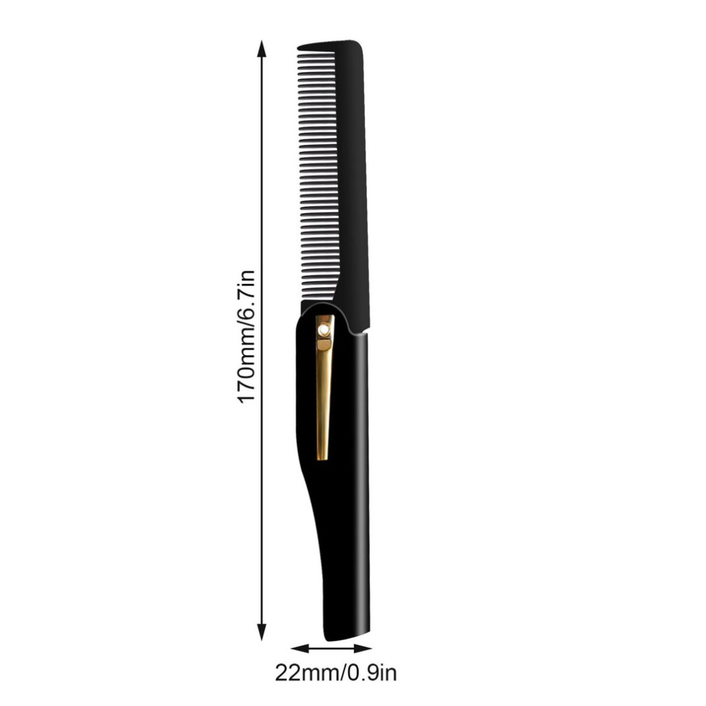 Купить с кэшбэком Professional Men Hair Comb Brush Handmade Folding Clip Foldable Travel Hair Moustache Beard Comb Hairdressing Tools Portable
