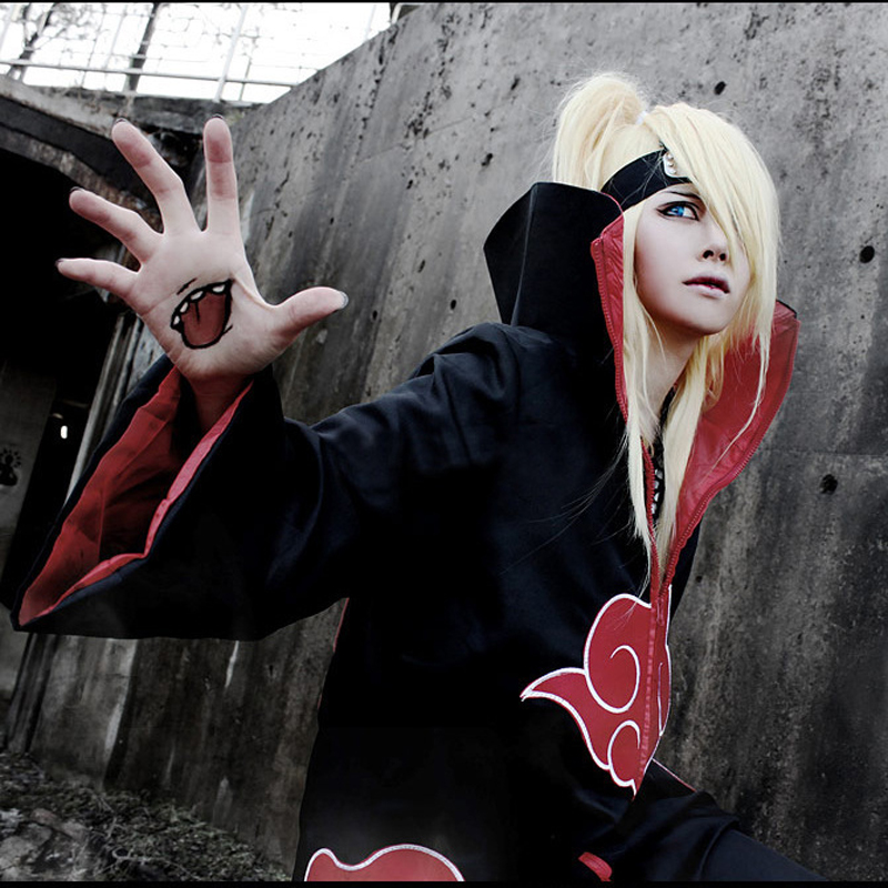 Naruto Cosplay Costume Akatsuki Cloak Without Hoodie Trench Naruto Uchiha Itachi Anime Cosplay Costume C099
