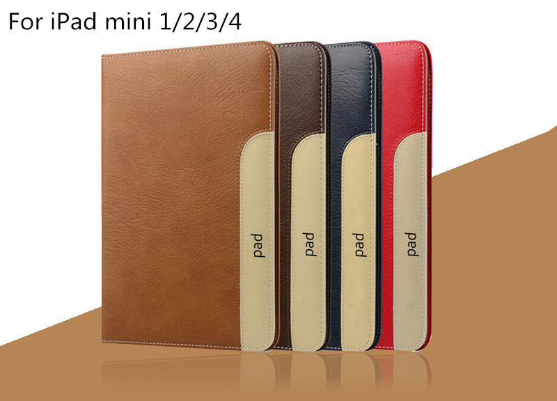 Binful Lastest Flip PU Leather Smart Sleep Wake Cover Back Stand Case Capa Funda For iPad Mini 1 2 3 4 Tablet Business Case Bag