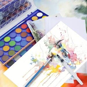Image 3 - Geheugen 36 Kleuren Aquarel Verf sets Professionele Water Kleuren voor Schilderen Papier Kunst Levert Met Gratis Borstels Palet
