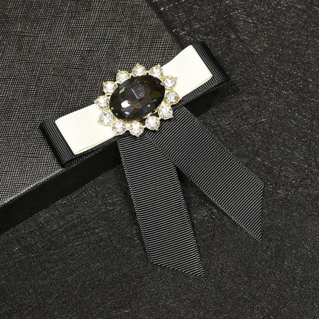 Я-Remiel высокого класса лента Хрустальный цветок лук брошь контакты и броши с бантом с лацканами значок для мужской костюм воротник рубашки аксессуары