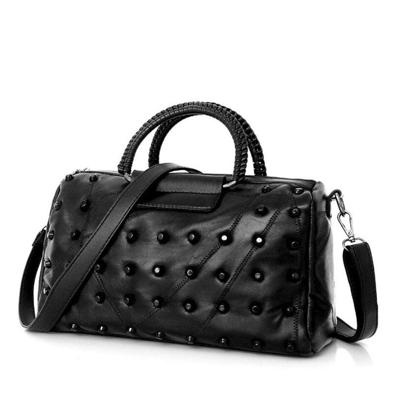 fashion woman bag sleepskin black single-shoulder large capacity handbag women PU messenger bags casual totes