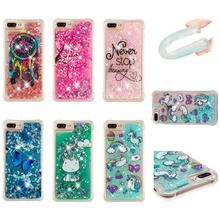 Silicone Soft TPU Clear Liquid Phone Cases pattern case For iPhone X 8 7 6 6S Plus Back Cover