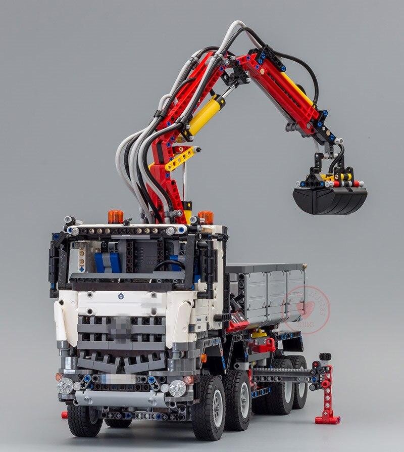 Nouvelle série technique Arocs camion modèle ensembles fit legoings technique camion ville modèle blocs de construction briques 42043 kid jouets bricolage cadeau - 5