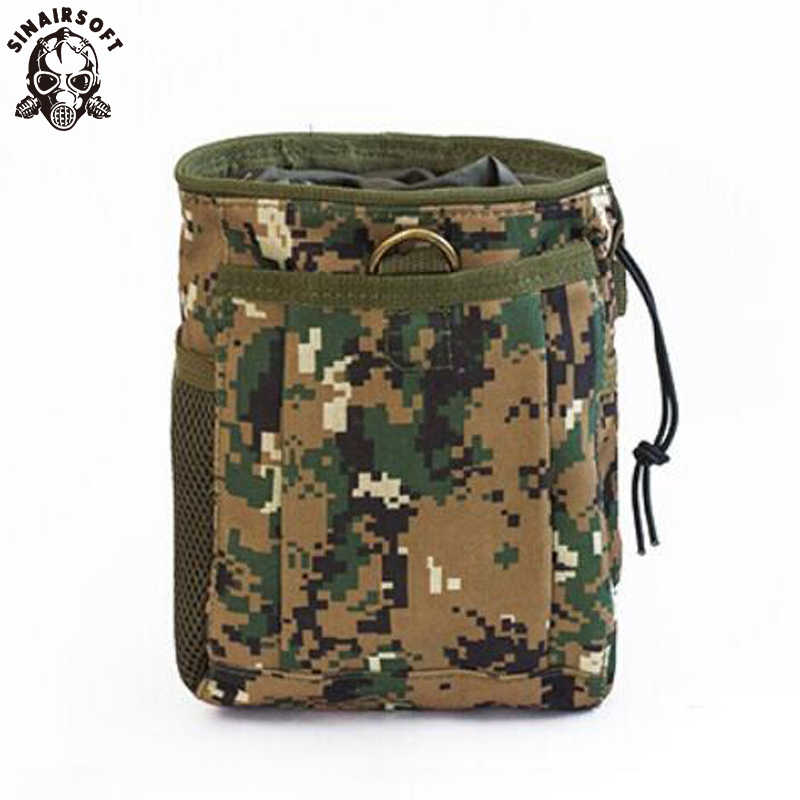 Tactical Magazine Recovery Dump Pouch Gear Compact Military Airsoft Molle Nylon Bag Drop Hunting Pouches Bandolier Mag Ammo Bags