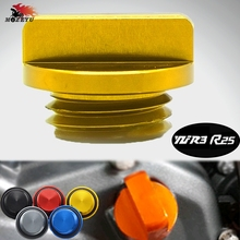 цена на Motorcycle Accessories parts Engine Oil Drain Plug Sump Nut Cup Plug Cover Engine Oil CUP for yamaha YZF R3 R25  2014 2015 2016