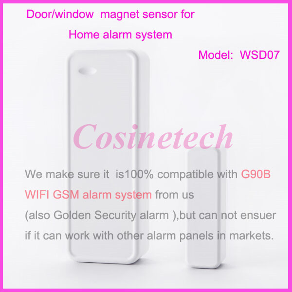 New smart Two-way door magnet sensor for G90B WIFI GSM ALARM SYSTEM,Golden Security Home alarm systems Door/window door contact two tier security framework for service oriented systems