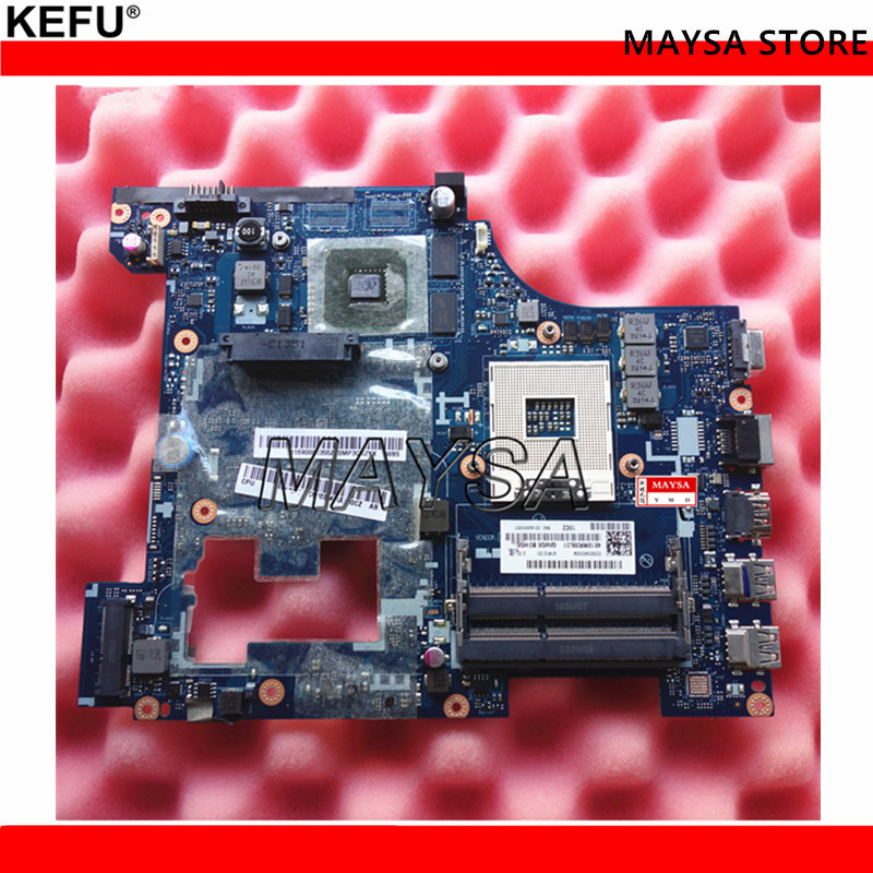 Laptop Motherboard fit For Lenovo G580 QIWG5_G6_G9 LA-7981P with 4 video memories, DDR3, Socket 989 brand new for lenovo g580 qiwg5 la 7981p laptop motherboard with nvidia n14m gl b a2 video card
