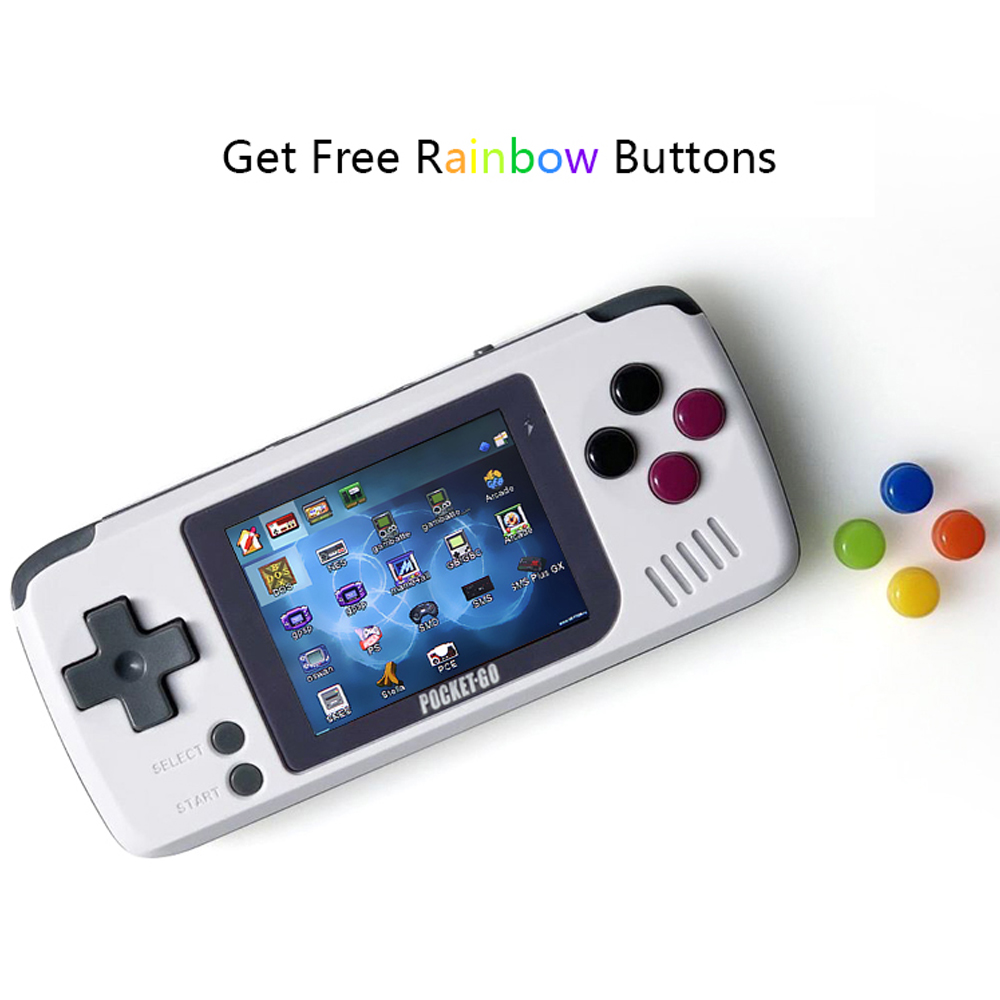 PocketGo, écran 2.4 pouces IPS Mini jeu rétro portable, Open-source avec console de jeu de cartes mémoire externe 8 go - 4