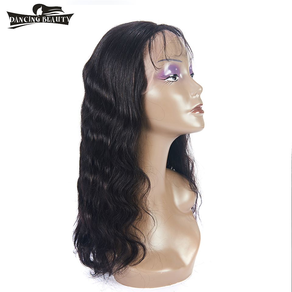 DANCING BEAUTY Pre-Colored Lace Frontal Human Hair Wigs For Women Brazilian Hair Body Wave Lace Wig Non Remy Natural Color ...
