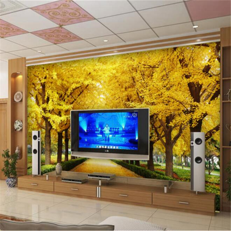 beibehang Custom Photo Wallpaper 3D Stereo Murals Gold Full House Gold Tree  Money Tree 3D Living Room TV Walls 3d wallpaper-in Wallpapers from Home ...