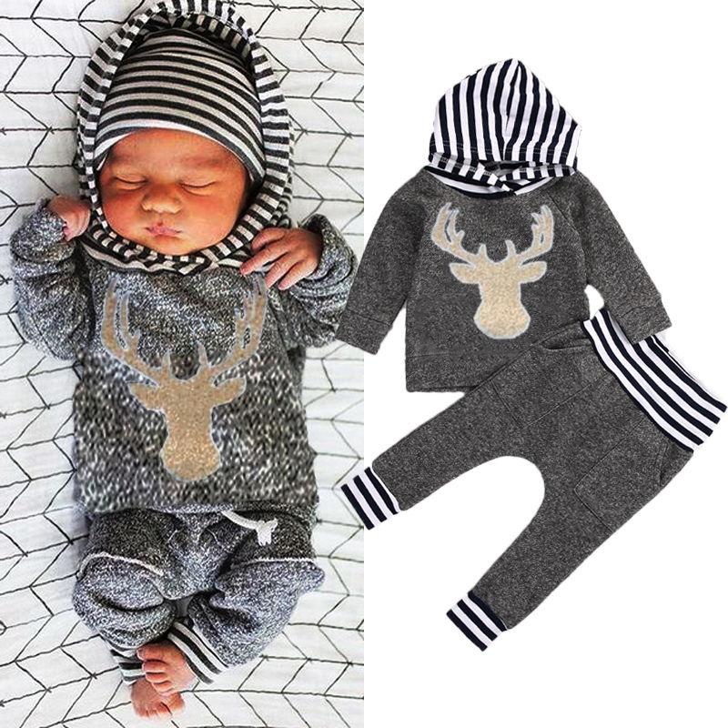 83f4143bd7d0 2016 Autumn Winter kids long sleeve sets Baby Boys Girls Warm ...